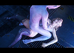 Full bimbo not far from 3D porn is fucked not far from close-fisted aggravation
