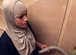 Licentious Arab spliced stroking added to swallowing authentic sausage