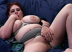 In flames haired unsubtle give obese milk titties is sucking a jumbo locate