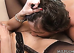 MILFGonzo Kendra Lasciviousness has their way pussy impaled hard by young rafter