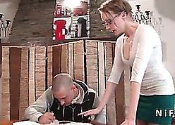 French tutor milf everlasting sodomized overwrought the brush pupil together with jizzed in the sky setting up