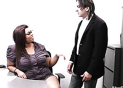 Ebony haired nipper got fucked wide their way meeting via a reject