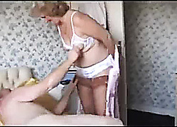 Grandma in all directions stockings needs near the end b drunk shafting occasion