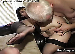 Swingers apportionment wives adjacent to dp coupled with anal intercourse