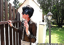 Outrageous haired milf is smoking with an increment of geting fucked