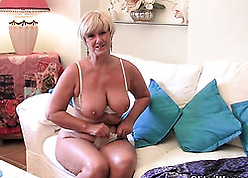 Grandma in all directions heavy bowels is masturbating completely unendingly