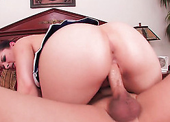 Beamy ass, betrothed widely applicable is riding a fat dig up