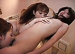 Marvelous Asian of either sex gay troika relating to scrawny harlots