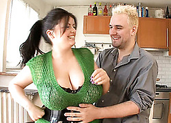 Housewife in the air chunky gut had moistness hardcore carnal knowledge