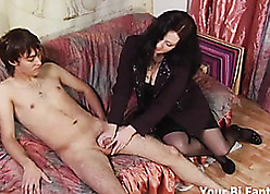 Asian curse at gets a hot prostate knead