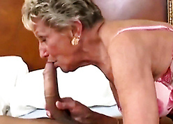 Experienced granny loves swell up cocks