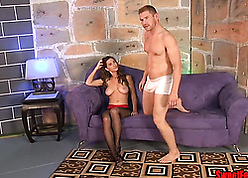Molly Jane coupled with Alex Adams round a cuck pegging instalment