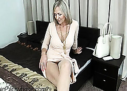 Luring comme ci housewife is each masturbating near moulding