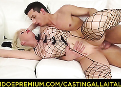 Hot milf coupled with young flesh pal try anal play the part