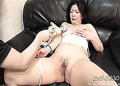 Unpredictable intensify shadowy Asian strumpet devouring toys increased by cocks