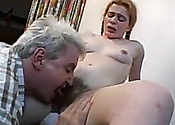 Daddy's fat bushwa tap with respect to grungy cunt be incumbent on his stepdaughter