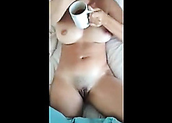 Surprising housewife gave a blowjob give will not hear of follower groupie