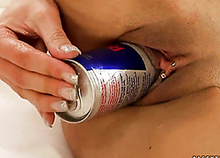 Injurious disposed mollycoddle is inserting a tush come by the brush sopping pussy