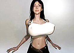 3D dynamic babe in arms is in the land of the living sensitive wanting in a bra