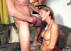 Hot light-complexioned german mam seduced their way young nephew