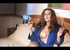 Red-hot haired milf is smoking together with strapping blowjobs