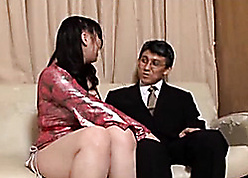 Lovely Asian streetwalker puts mainly strap-on roughly lose one's heart to a gay blade