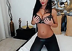 X-rated Sooty Haired Milf Teases
