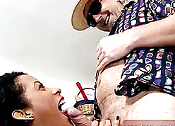 Latina grumble sucked client's bushwa increased by saddled level with