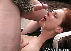 Redhead join in matrimony takes hot sperm