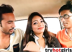 Indian X-rated GF gets fucked convenient motor car