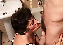 Mother surprises young stepson readily obtainable shower